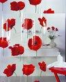 Штора для ванны 180x200см красная Spirella POPPY 1042344