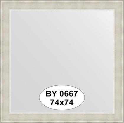 Зеркало 74x74см в багетной раме травлёное серебро Evoform BY 0667