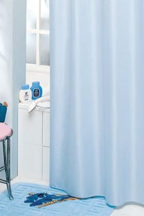 Штора для ванны 180x200см голубая с кольцами 12шт Grund MADISON 346.98.018