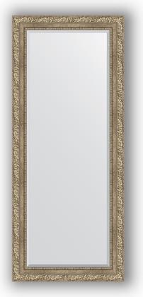Зеркало с фацетом в багетной раме 65x155см виньетка античное серебро 85мм Evoform BY 3565