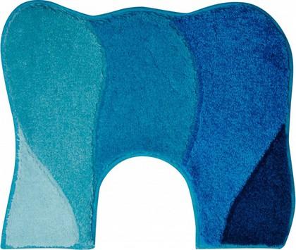 Коврик с вырезом 50x60см, синий-бирюзовый Grund Curts b2570-06143