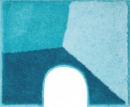Коврик с вырезом под туалет 60x50см синий Grund Shi 3625.06.175