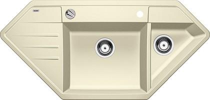 Кухонная мойка крыло слева, с клапаном-автоматом, гранит, жасмин Blanco Lexa 9 E 515099