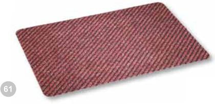 Коврик придверный 40x60см промежуточный красный, полипропилен Golze Rib Line Trend 481-15-61