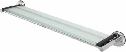 Полочка стеклянная 63см с держателями из полированной стали Brabantia 421266