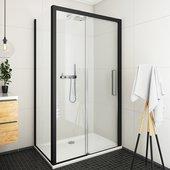 Душевой уголок Roltechnik Exclusive ECD2P, 120x80см, дверь справа, прозрачное стекло, чёрный 565-120000P-05-02/563-8000000-05-02