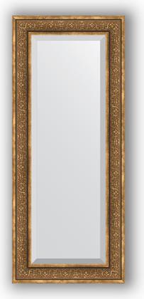 Зеркало с фацетом в багетной раме 59x139см вензель бронзовый 101мм Evoform BY 3526