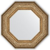Зеркало Evoform Octagon 606x606 в багетной раме 109мм, виньетка античная бронза BY 3850