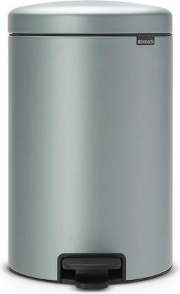Мусорный бак с педалью 20л, мятный металлик Brabantia Newicon 114120