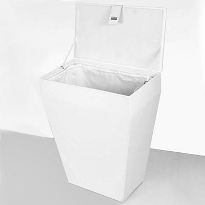 Colombo Blаck&White Корзина для белья белая, высота 60см, артикул B9201.EPB