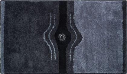 Коврик для ванной 60x100см антрацит с кристаллами Сваровски Grund Crystal b2440-164068