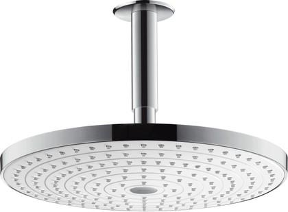 Верхний душ потолочное соединение, переключение кнопкой, хром / белый Hansgrohe Raindance Select S300 27337400
