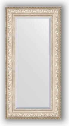 Зеркало с фацетом в багетной раме 60x120см виньетка серебро 109мм Evoform BY 3504