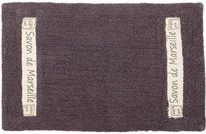 Коврик для ванной комнаты хлопковый 50x80см серый Spirella Savon De Marseille Canebiere 4007284