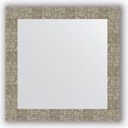 Зеркало в багетной раме 66x66см соты титан 70мм Evoform BY 3148