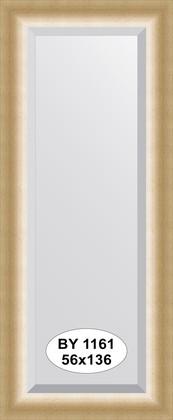 Зеркало 56x136см с фацетом 30мм в багетной раме травлёное золото Evoform BY 1161