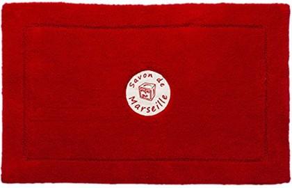 Коврик для ванной комнаты хлопковый 50x80см красный Spirella Savon De Marseille Frioul 4007287