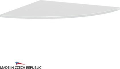 Полка угловая с отверстиями 30см, матовое стекло Ellux ELU 034