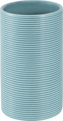 Стакан керамика, голубой Spirella Tube Ribbed 1018509