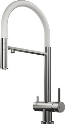 Смеситель для кухни однорычажный с выдвижным изливом и подключением фильтра для очистки воды, хром Omoikiri Kanto-C 4994015