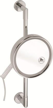 Зеркало косметическое настенное с подсветкой, диаметр 200мм, Bemeta 112101162
