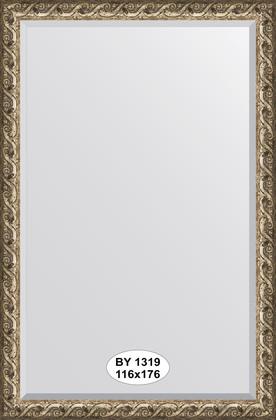 Зеркало 116x176см с фацетом 30мм в багетной раме фреска Evoform BY 1319