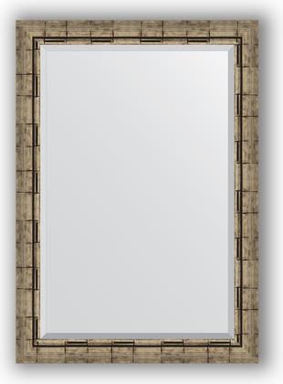 Зеркало 73x103см с фацетом 30мм в багетной раме старый бамбук Evoform BY 1196