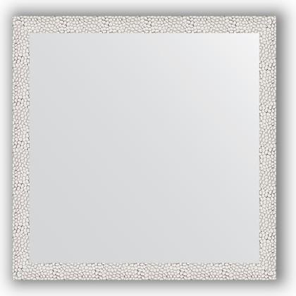Зеркало в багетной раме 71x71см чеканка белая 46мм Evoform BY 3226