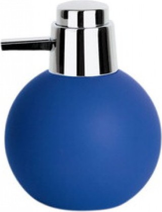 Spirella Ёмкость для жидкого мыла BOWL RUBBER с дозатором, синяя, артикул 1015317