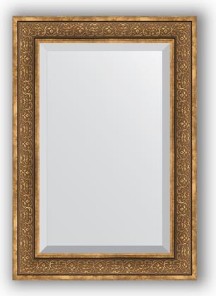 Зеркало с фацетом в багетной раме 69x99см вензель бронзовый 101мм Evoform BY 3448