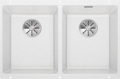 Кухонная мойка Blanco Subline 350/350-U, отводная арматура, белый 523578
