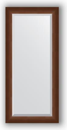 Зеркало 52x112см с фацетом 25мм в багетной раме орех Evoform BY 1147
