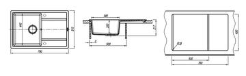 Кухонная мойка Florentina Липси, 780x510мм, песочный 20.270.C0780.107