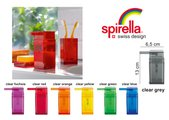 Ёмкость для жидкого мыла оранжевая Spirella CUBO 1015289