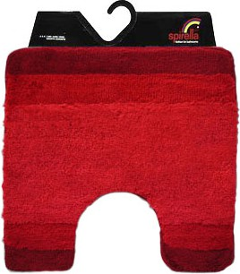 Коврик для туалета 55x55см красный Spirella Balance 1009211