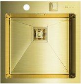 Кухонная мойка без крыла, нержавеющая сталь, золото Omoikiri Akisame 46-LG 4993081