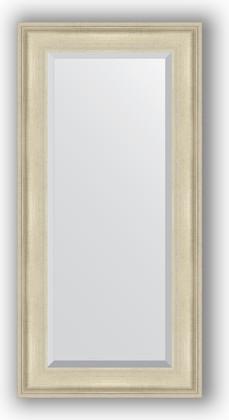 Зеркало 58x118см с фацетом 30мм в багетной раме травлёное серебро Evoform BY 1246