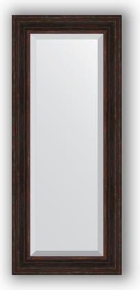 Зеркало с фацетом в багетной раме 59x139см темный прованс 99мм Evoform BY 3525