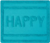 Коврик для ванной комнаты хлопковый 55x65см бирюзовый Spirella Ibiza Love Happy 1017824