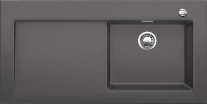 Кухонная мойка крыло слева, с клапаном-автоматом, гранит, тёмная скала Blanco Modex-M 60 518891