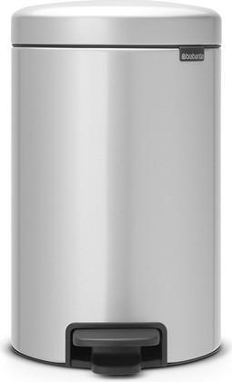 Мусорный бак с педалью 12л, серый металлик Brabantia Newicon 113680
