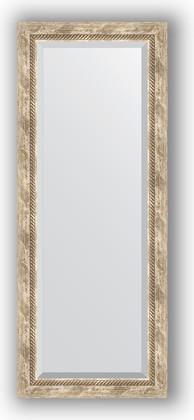 Зеркало с фацетом в багетной раме 53x133см прованс с плетением 70мм Evoform BY 3511