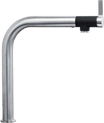 Смеситель для кухонной мойки с высоким изливом, рычаг спереди, нержавеющая сталь полированная Blanco VONDA 518435