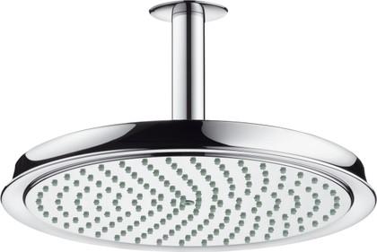 Верхний душ 240мм с потолочным держателем, хром Hansgrohe Raindance Classic 27405000