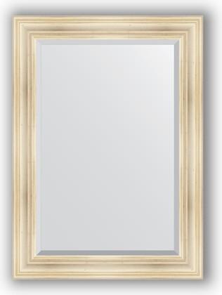 Зеркало с фацетом в багетной раме 79x109см травленое серебро 99мм Evoform BY 3471