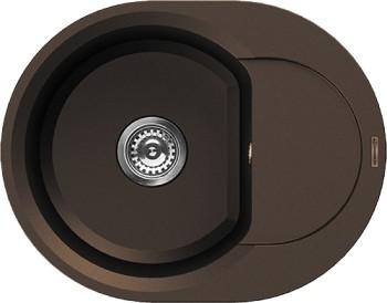 Кухонная мойка оборачиваемая с крылом, гранит, тёмный шоколад Omoikiri Sakaime 60E-DC 4993205