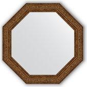 Зеркало Evoform Octagon 504x504 в багетной раме 57мм, виньетка состаренная бронза BY 3694
