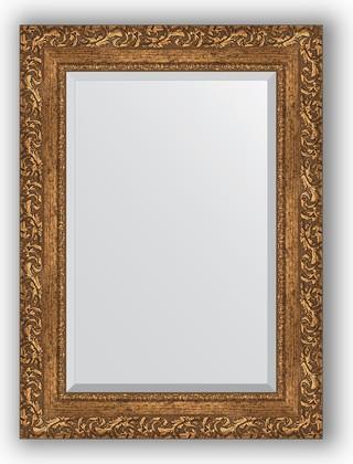 Зеркало 55x75см с фацетом 30мм в багетной раме виньетка бронзовая Evoform BY 1230
