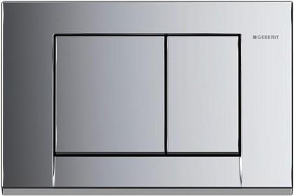 Кнопка пластиковая двойного смыва для инсталляции, глянцевый хром Geberit BOLERO 115.777.21.1