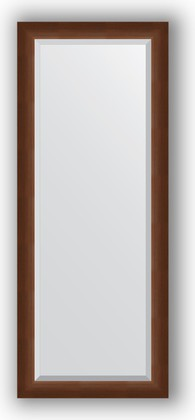 Зеркало 57x142см с фацетом 25мм в багетной раме орех Evoform BY 1167